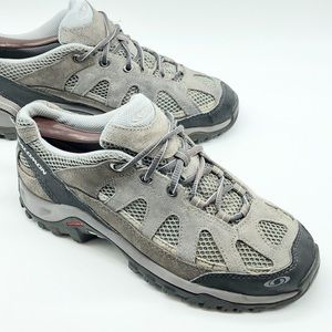 Salomon Women's Exit Aero Gray Taupe Hiking Shoe